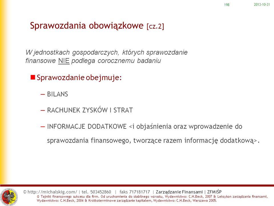 Sprawozdania obowiązkowe [cz.2]